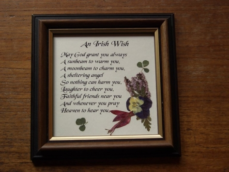 An Irish Wish - Wild Irish Pressed flowers and Verse