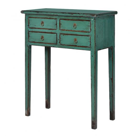 Peacock turquoise telephone table