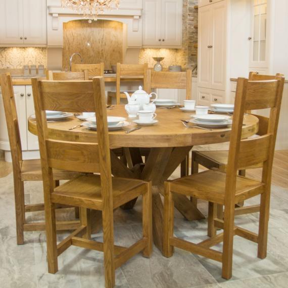 Round Table Orange.Fitzwilliam Oak 1 5m Round Table