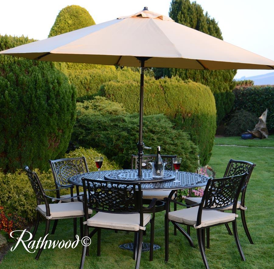 lyon 6 seater round set - Garden Furniture 6 Seater Round