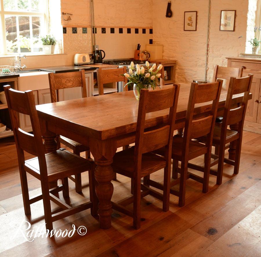 Farm Table Dining: Fitzwilliam Farmhouse Oak 7ft Dining Table