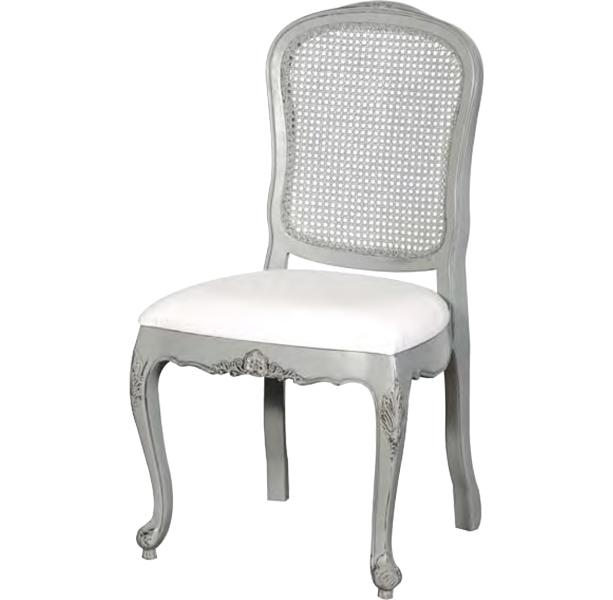 French Chic Rattan Dining Room Chair Grey Rathwood