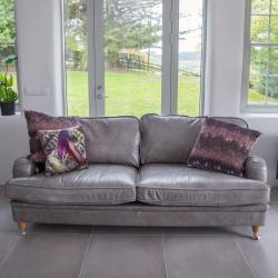 Balmoral 3 seater grey leather