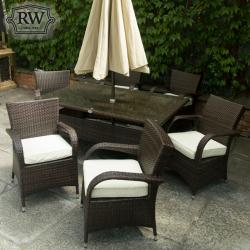Charleston rectangle rattan set