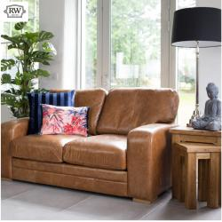 Hudson 2 seater brown leather