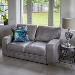 Hudson 2 seater grey leather