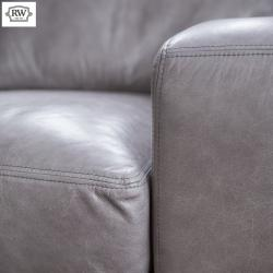 Hudson armchair grey leather