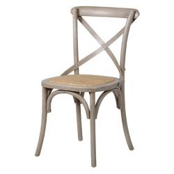 Industrial french x back dining chair