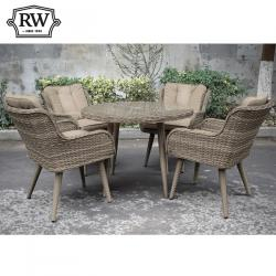 Oslo 4 seater round set