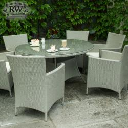 Powerscourt grey 6 seater set