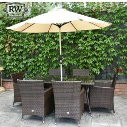 Raheen rectangle rattan set