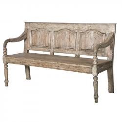 Rustic french pine bench