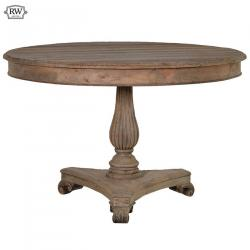 Rustic french pine round dining table