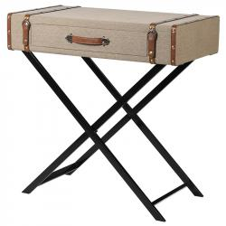 Trunk linen look side table