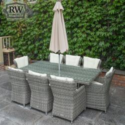 York 8 seater rectangle set