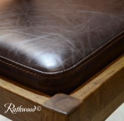Brown aniline leather pad