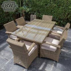 Chester rectangle 6 seater set
