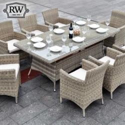 Dumont rectangle 8 seater set