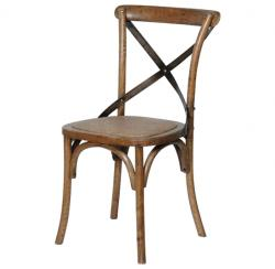 Farmhouse dark elm dining chair