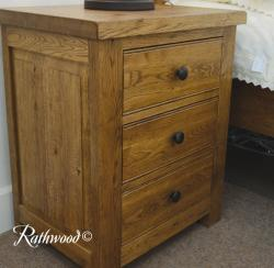 Fitzwilliam 3 drw wide bedside