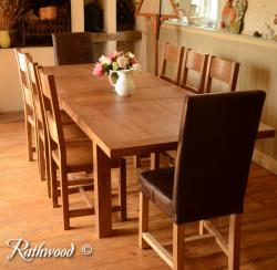 Fitzwilliam 5ft oak extending dining table
