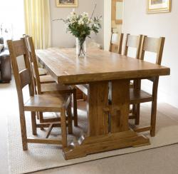 Fitzwilliam 7ft oak dining table