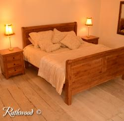 Fitzwilliam oak 6ft sleigh bed