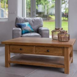 Fitzwilliam coffee table with 2 drawers