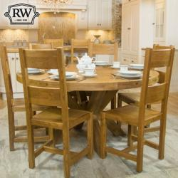 Fitzwilliam oak 1 5m round table