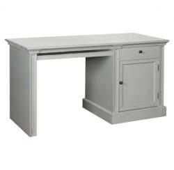 French chic cupboard desk grey