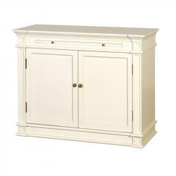 French chic cupboard with slide cream