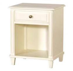 French chic open bedside table cream
