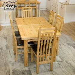 Kingston 5ft oak extending dining table
