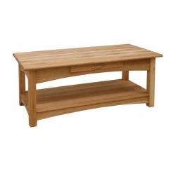 Manhattan oak coffee table with drawer