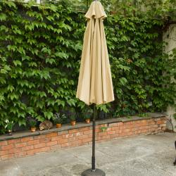 Parasol 2 75m in hammered bronze