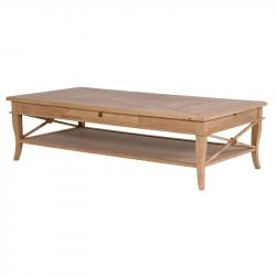Weathered oak coffee table
