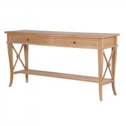 Weathered oak hall console table