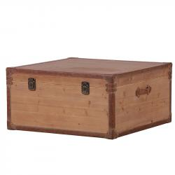 Wooden coffee table trunk