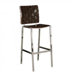 Woodward weave bar stool brown