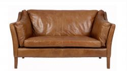 Reggio 2 seater sofa old saddle nut