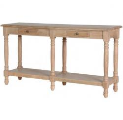 Weathered oak hall console