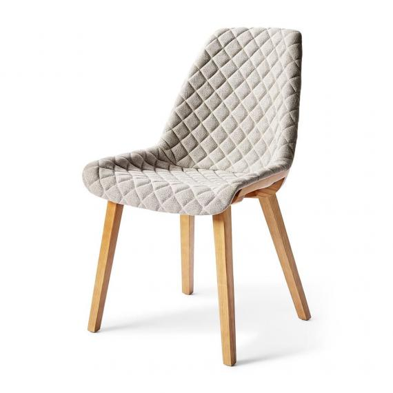 Amsterdam city dining chair mouline linen elephant grey