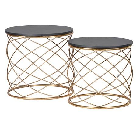 Gold loops end tables