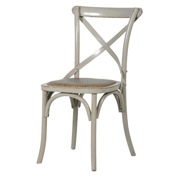 Industrial grey x back dining chair
