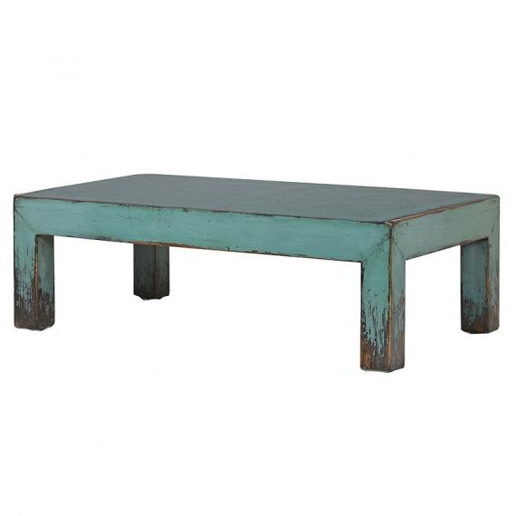 Peacock turquoise chunky coffee table