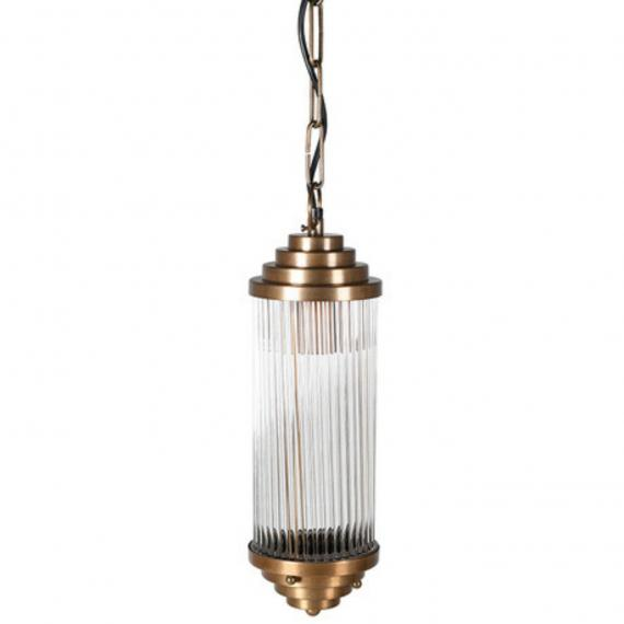 Rustic french brass glass ceiling light