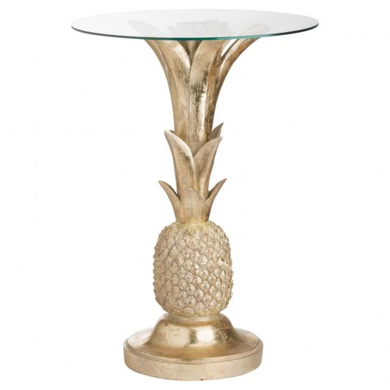 Vintage gold pineapple side table