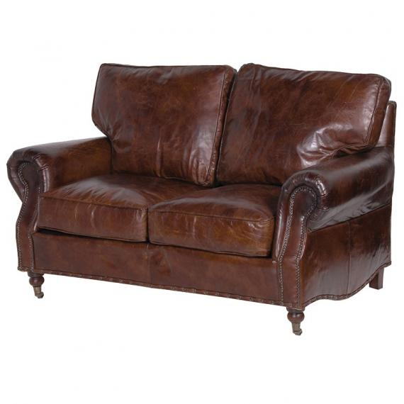Vintage leather 2 seater
