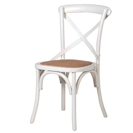 Industrial cream dining chair