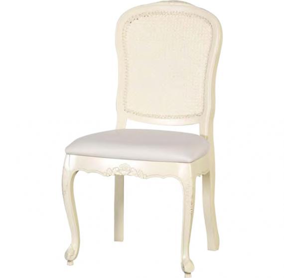 French Chic Rattan Dining Chair Cream Rathwood